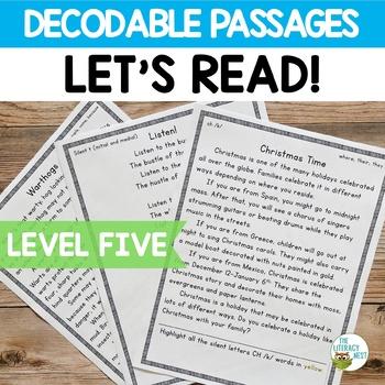 Orton-Gillingham Decodable Stories Reading Passages ~Level Five~