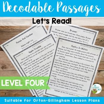 Orton-Gillingham Decodable Stories Reading Passages Level Four