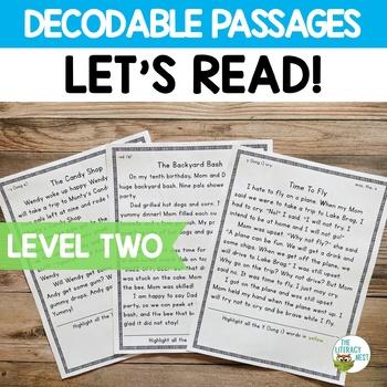 Orton-Gillingham Decodable Stories Reading Passages ~Level Two~