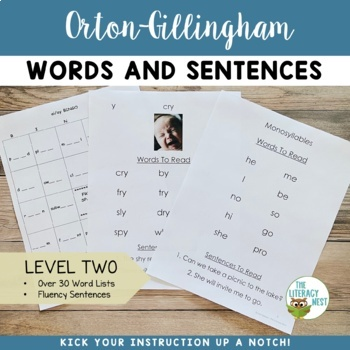 Orton Gillingham Level 2 Words and Sentences Pack 2nd Edition