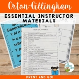 Orton-Gillingham Materials Multisensory Phonics Approach
