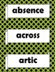 Orton Gillingham Red Words Stage 4 Flash Cards or Word Wal