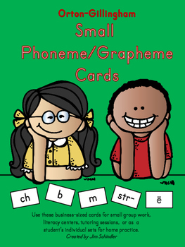 Orton-Gillingham Small Phoneme/Grapheme Cards