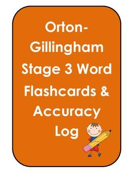 Orton Gillingham Stage 3 Flashcards & Accuracy Log