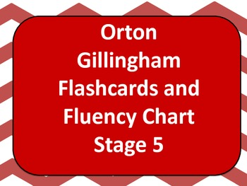 Orton Gillingham Stage 5 Flashcards & Accuracy Log