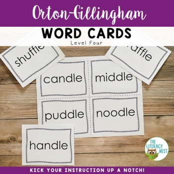 Orton-Gillingham Word Cards Level Four