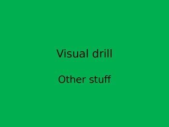 Orton Gillingham visual drill other stuff