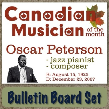 Oscar Peterson - Canadian Musician / Composer of the Month