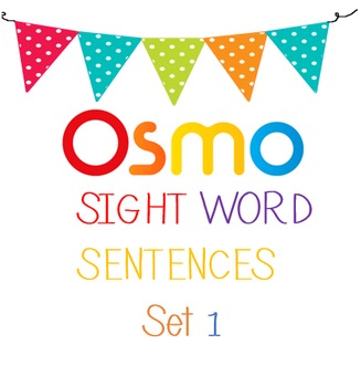Osmo Sight Word Sentences-1
