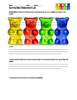 Osmosis diffusion gummy bear lab report