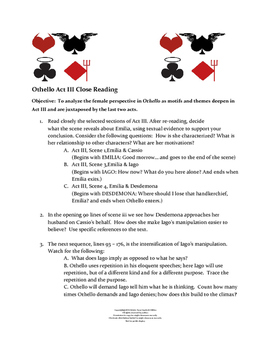 Othello Act III Close Reading