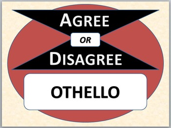 OTHELLO - Agree or Disagree Pre-reading activity
