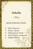Othello Quick Reference Pamphlet Bookmark
