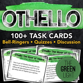 Othello Task Cards: Activities, Quizzes, Discussion Questi