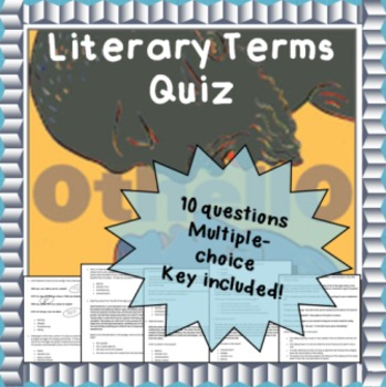 Othello literary terms vocabulary quiz