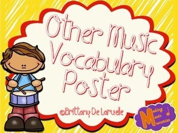 Other Music Vocabulary Posters - Color, black & white, PLU