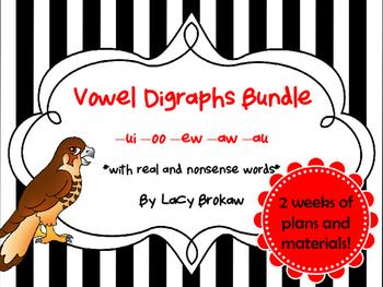 Other Vowel Digraphs BUNDLE ew, ui, oo, au, aw, oo