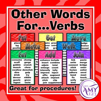 Other Words for (Overused) Verbs Posters