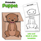Otter Craft Activity | Paper Bag Puppet Template