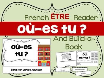 Où es-tu ? French Verb ÊTRE Town Reader & Build-A-Book