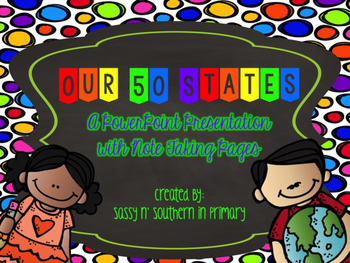 Our 50 States Powerpoint with Note Taking Pages