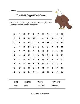 The Bald Eagle Word Search (Grades 1-2)