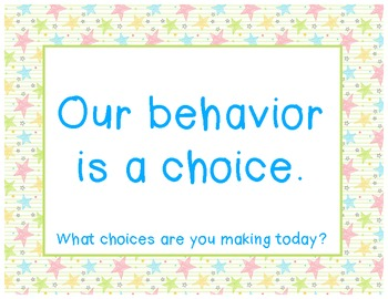 Our Behavior is a Choice: clip and punch card system (Clas
