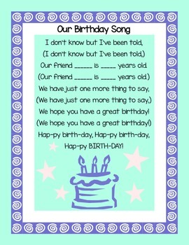 Our Birthday Song