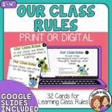 Classroom Rules Task Cards