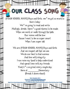 Our Class Song (Build Rapport, Community, and a Fun Learni