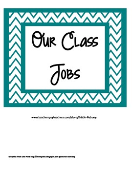 Our Classroom Jobs - Teal and Gray