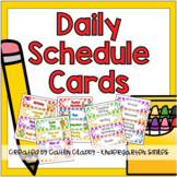 Our Daily Schedule Cards (Primary Colors)