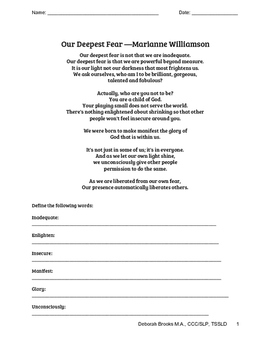 Our Deepest Fear Packet