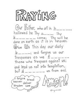 Our Father Printable
