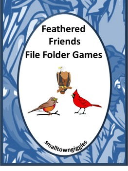 Birds Math and Literacy File Folder Games for Centers or S
