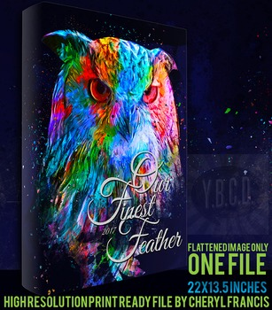 Our Finest Feather 2017 Yearbook Cover Design