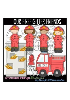 Our Fire Fighter friends Clipart Collection