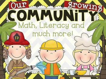 Community Helpers {Math and Literacy Activities For Grades 1-2}