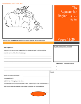 Our Land and People Activity Booklet - Chpt. 1 (The Appala