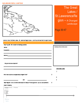 Our Land and People Activity Booklet - Chpt. 2. (Great Lak