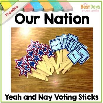 Our Nation:  Voting Sticks Freebie