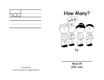 Our Plants Sight Word Book - Week 29