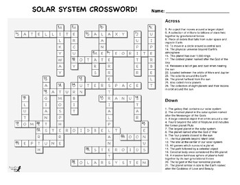 Our Solar System Crossword!