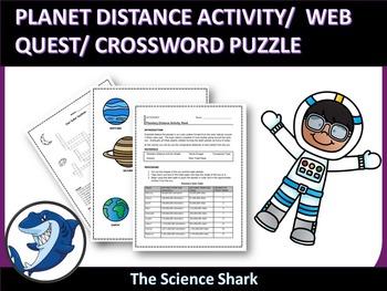 Planet Distance Activity/ Web Quest/ Crossword