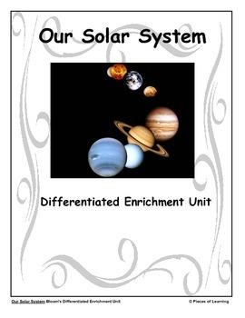 Our Solar System - Differentiated Blooms Enrichment Unit