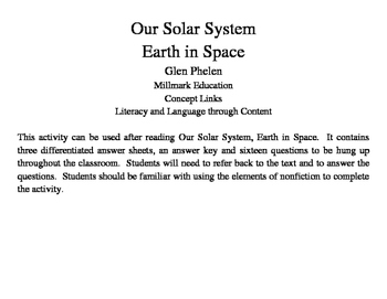 Our Solar System Earth in Space