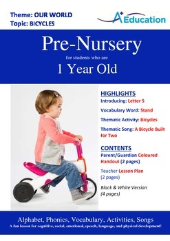Our World - Bicycles : Letter S : Stand - Pre-Nursery (1 y