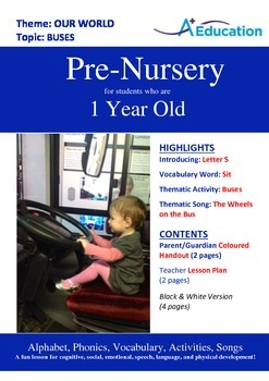 Our World - Buses : Letter S : Sit - Pre-Nursery (1 year old)