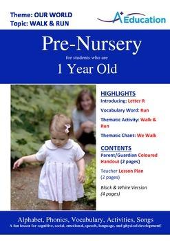 Our World - Walk & Run : Letter R : Run - Pre-Nursery (1 y