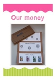 Our money. Wallet template with information about our money,